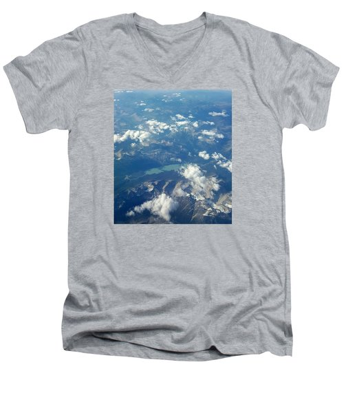 Beauty From The Skies Men's V-Neck T-Shirt