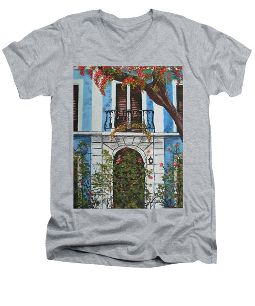 Beauty In Old San Juan Men's V-Neck T-Shirt