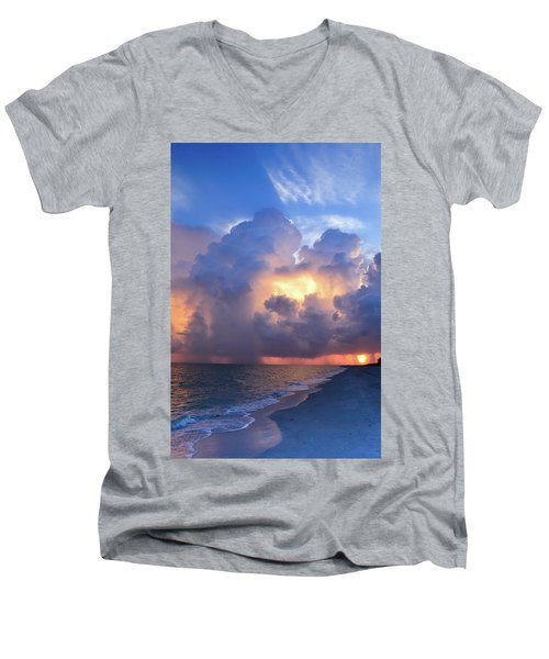 Men's V-Neck T-Shirt featuring the photograph Beauty In The Darkest Skies II by Melanie Moraga