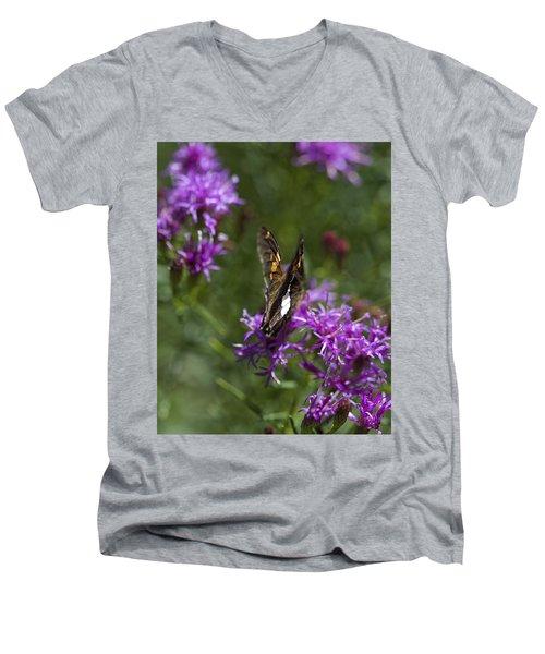 Beauty In The Garden Men's V-Neck T-Shirt by Nikki McInnes