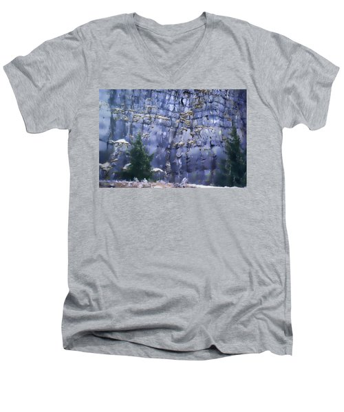 Men's V-Neck T-Shirt featuring the photograph Beauty Of The Gorge by Dale Stillman