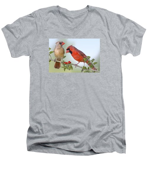 Beauty On A Branch Men's V-Neck T-Shirt by Bonnie Barry