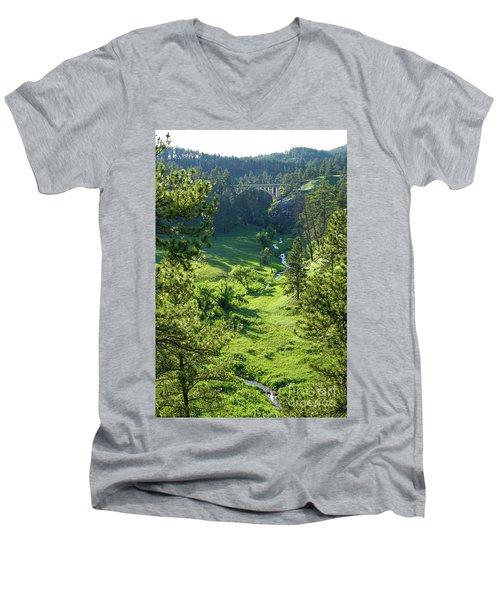 Beaver Creek In The Spring Men's V-Neck T-Shirt