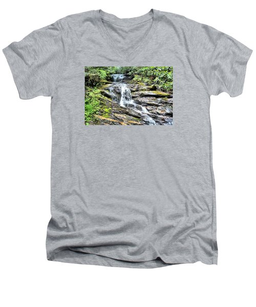 Becky Branch Falls In Summer Men's V-Neck T-Shirt