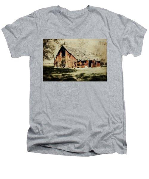 Beckys Barn 1 Men's V-Neck T-Shirt