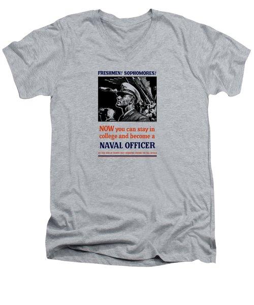 Become A Naval Officer Men's V-Neck T-Shirt