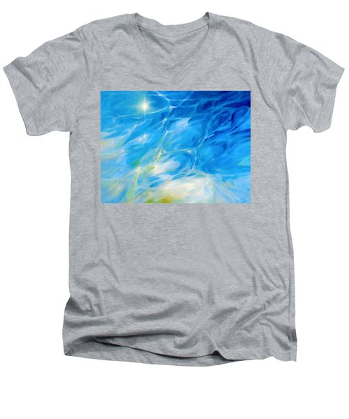 Becoming Crystal Clear Men's V-Neck T-Shirt by Dina Dargo