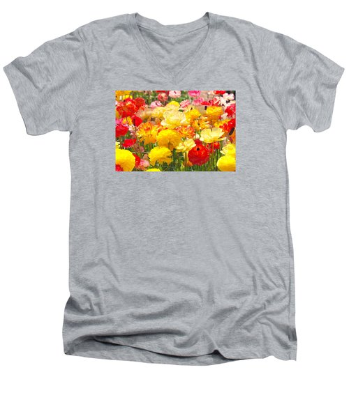 Bed Of Flowers Men's V-Neck T-Shirt