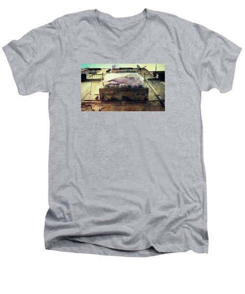 Bedclothes Men's V-Neck T-Shirt by Vittorio Chiampan