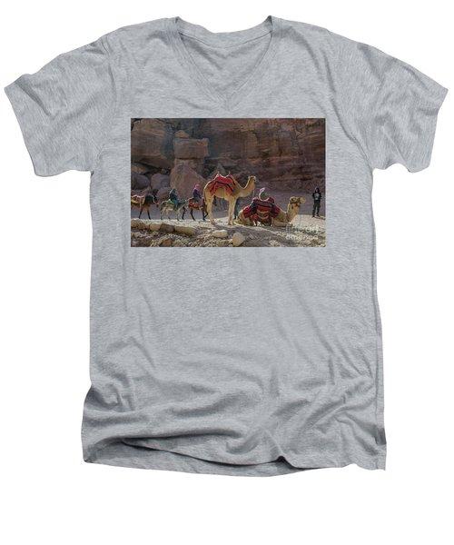 Bedouin Tribesmen, Petra Jordan Men's V-Neck T-Shirt