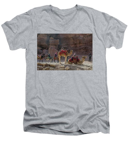 Bedouin Tribesmen, Petra Jordan Men's V-Neck T-Shirt