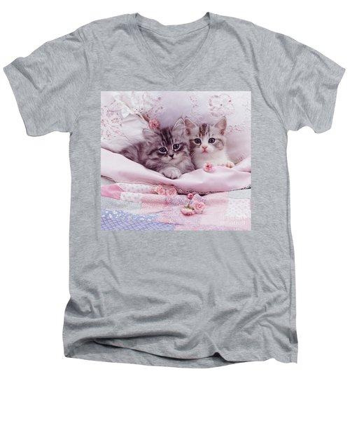Bedtime Kitties Men's V-Neck T-Shirt