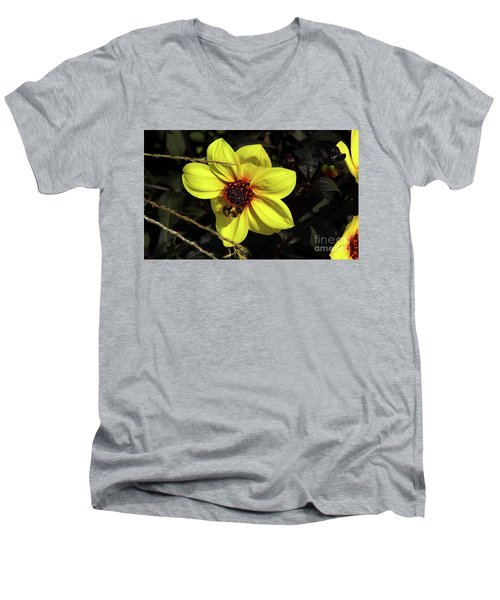 Bee At Work Men's V-Neck T-Shirt
