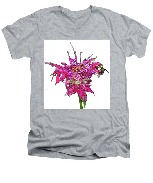 Bee Balm Men's V-Neck T-Shirt