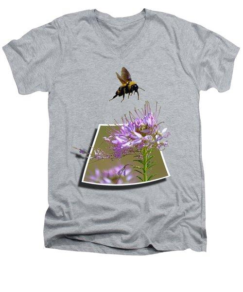 Bee Free Men's V-Neck T-Shirt by Shane Bechler