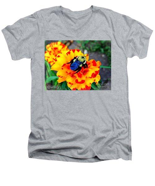 Bee Happy   Men's V-Neck T-Shirt