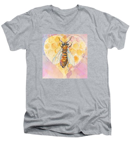 Bee Heart Men's V-Neck T-Shirt