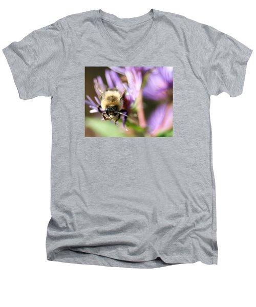 Bee Mustache Men's V-Neck T-Shirt