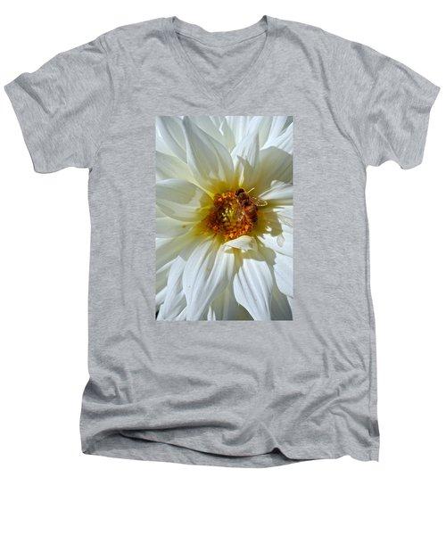 Bee Nice Dahlia  Men's V-Neck T-Shirt