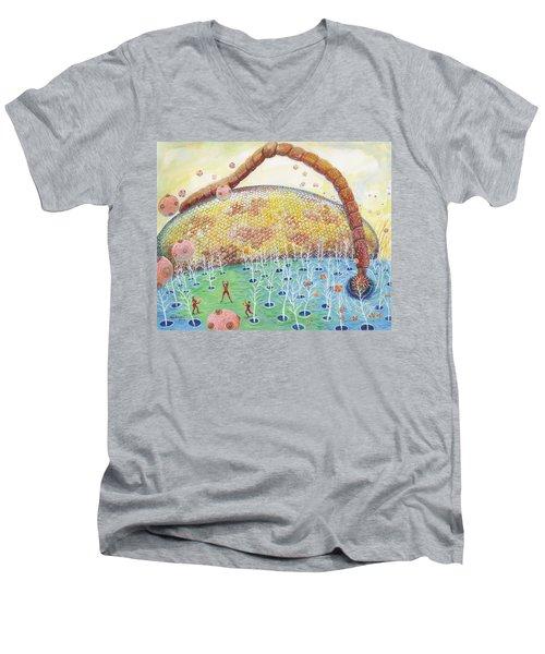Bee's Eye And Antenna Men's V-Neck T-Shirt