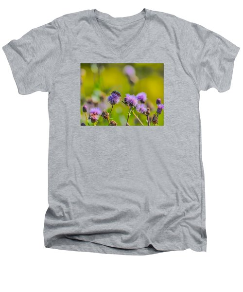 Men's V-Neck T-Shirt featuring the photograph Beetle by Leif Sohlman