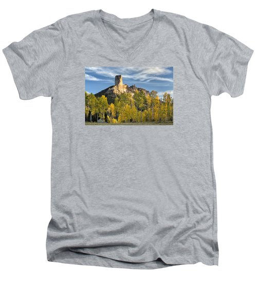 Before Sunset At Chimney Rock Men's V-Neck T-Shirt