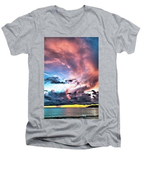 Men's V-Neck T-Shirt featuring the photograph Before The Storm Avila Bay by Vivian Krug Cotton