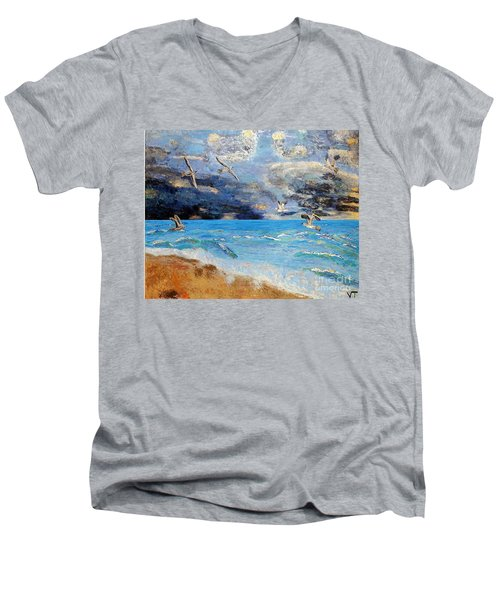 Before The Storm Men's V-Neck T-Shirt by Vicky Tarcau