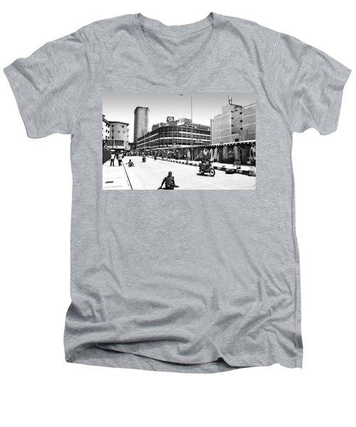 Pz, Broad Street Men's V-Neck T-Shirt