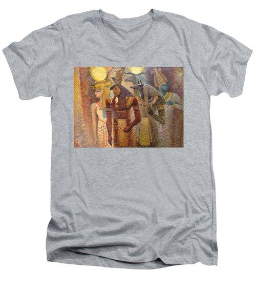 Beginnings. Gods Of Ancient Egypt Men's V-Neck T-Shirt