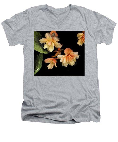 Begonias 2 Men's V-Neck T-Shirt