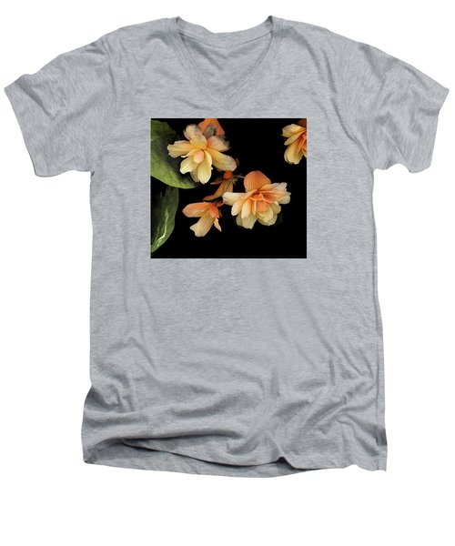 Begonias 2 Men's V-Neck T-Shirt