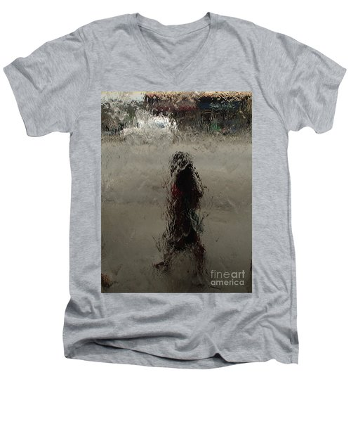 Behind Glass Men's V-Neck T-Shirt by Trena Mara