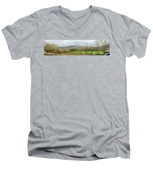 Behind The Dillard House Restaurant Men's V-Neck T-Shirt by Jerry Battle