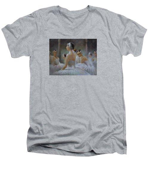 Behind The Scenes Men's V-Neck T-Shirt by Vali Irina Ciobanu