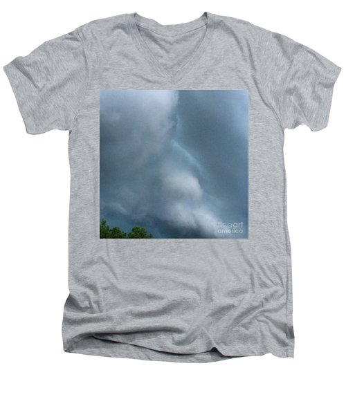Behold He Cometh With Clouds Men's V-Neck T-Shirt