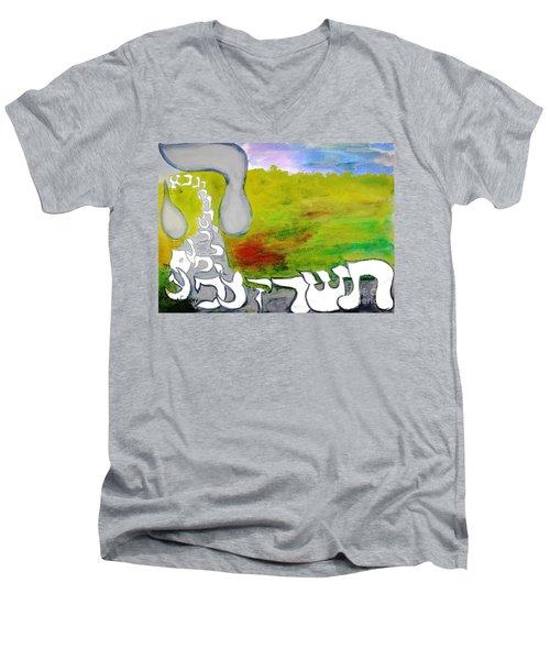 Behold The Hey Ab12 Men's V-Neck T-Shirt