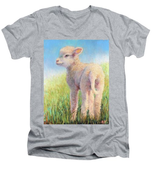 Behold The Lamb Men's V-Neck T-Shirt