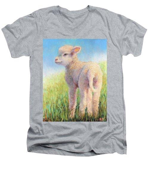 Behold The Lamb Men's V-Neck T-Shirt