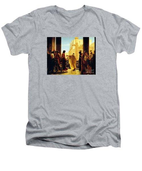 Behold The Man Men's V-Neck T-Shirt by Celestial Images