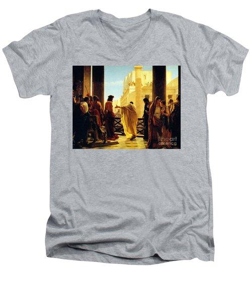 Behold The Man Men's V-Neck T-Shirt