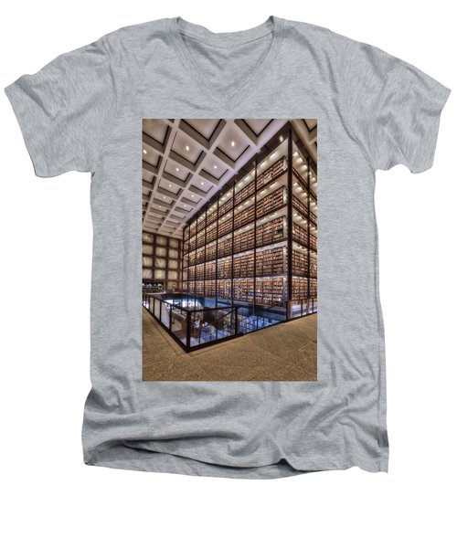 Beinecke Rare Book And Manuscript Library Men's V-Neck T-Shirt