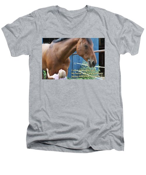 Being Awesome With My Horse Men's V-Neck T-Shirt