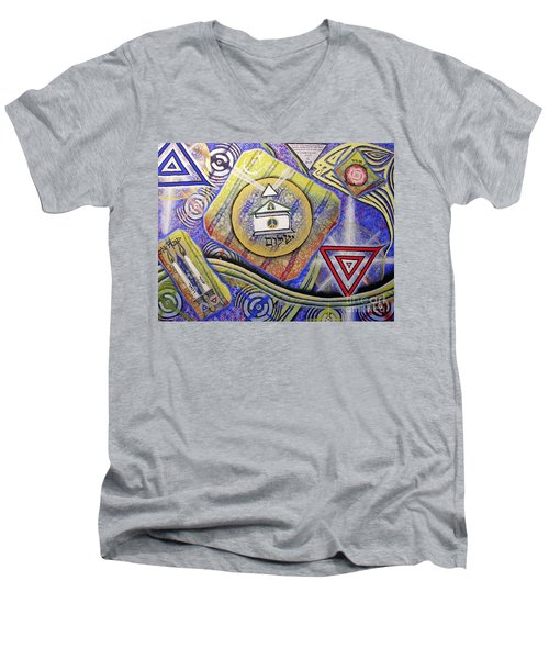 Beit Shalom Men's V-Neck T-Shirt by Luke Galutia