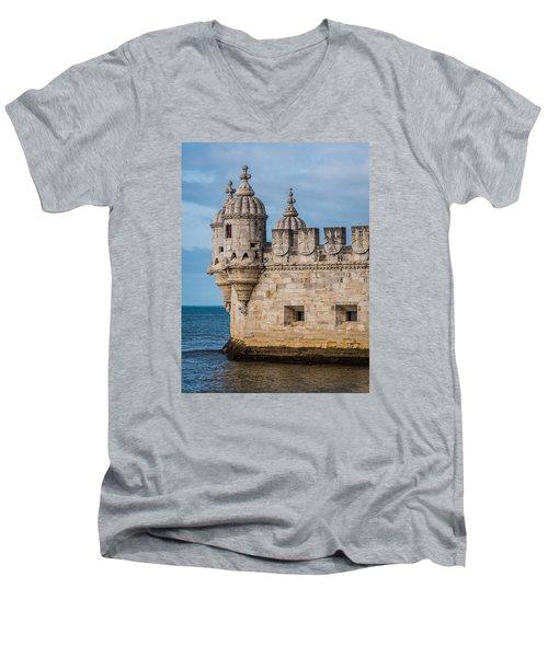 Belem Tower Men's V-Neck T-Shirt
