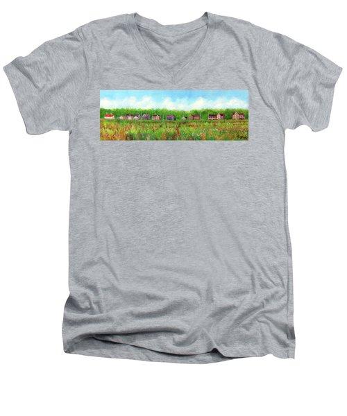 Belford's Nj Skyline Men's V-Neck T-Shirt