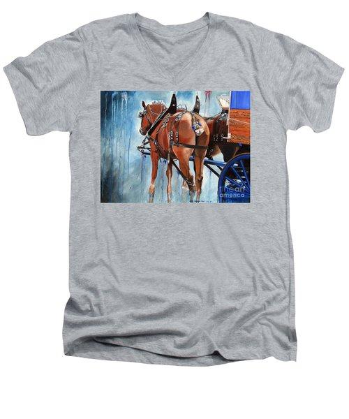 Belgian Blues Men's V-Neck T-Shirt