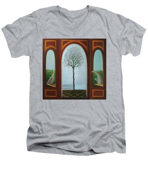 Belgian Triptyck Men's V-Neck T-Shirt