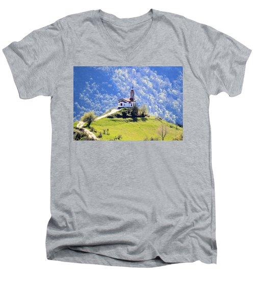 Believe Men's V-Neck T-Shirt