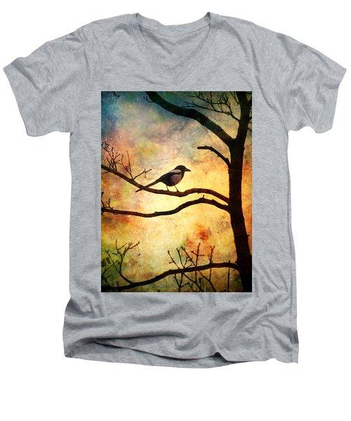 Believing In The Morning Men's V-Neck T-Shirt by Tara Turner